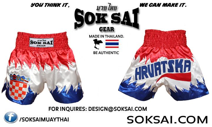9cbf0fc368 Croatia Muay Thai Shorts Design yours   design soksai.com www.soksai ...