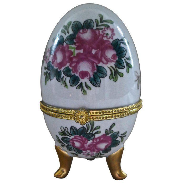 Small White Heart Trinket Box With Bird Porcelain Jewellery Storage Pot Lid G
