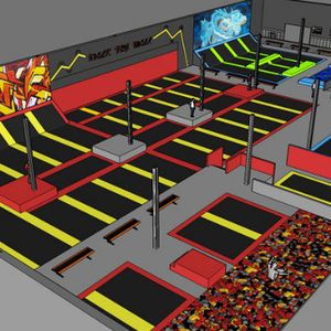 A Trampoline Park Will Open This Month In Nova Backyard Trampoline Trampoline Park Trampoline