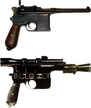 Original Mauser Broomhandle from WWI along with Han Solo's