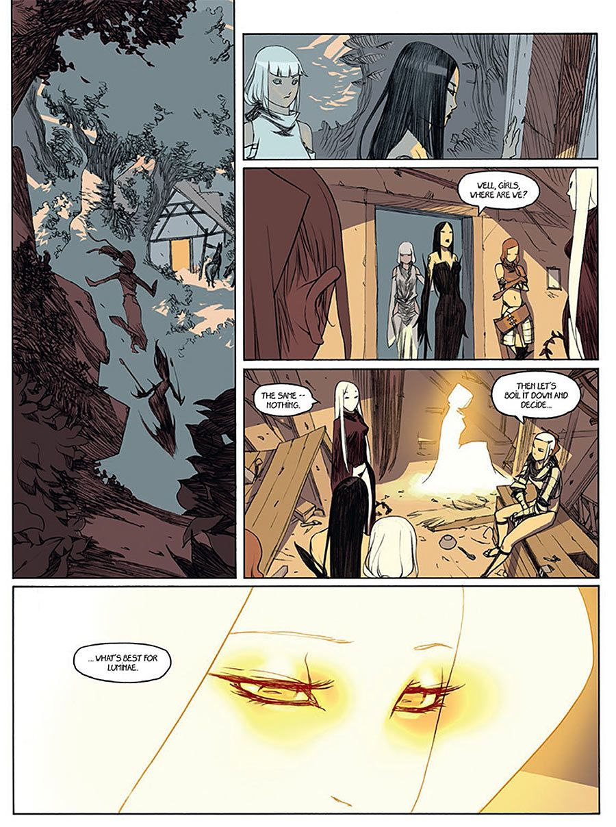 Preview page from Luminae hard cover graphic novel by Bengal