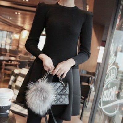 Knit Pleat Dress