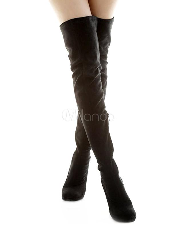 [27,80€ - -40%] Botas sobre la rodilla de felpa