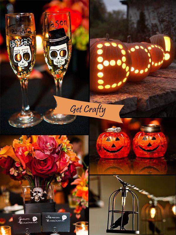 Classy halloween inspired wedding ideas and bridesmaid dresses black and orange pumpkin fall halloween wedding ideas junglespirit Choice Image