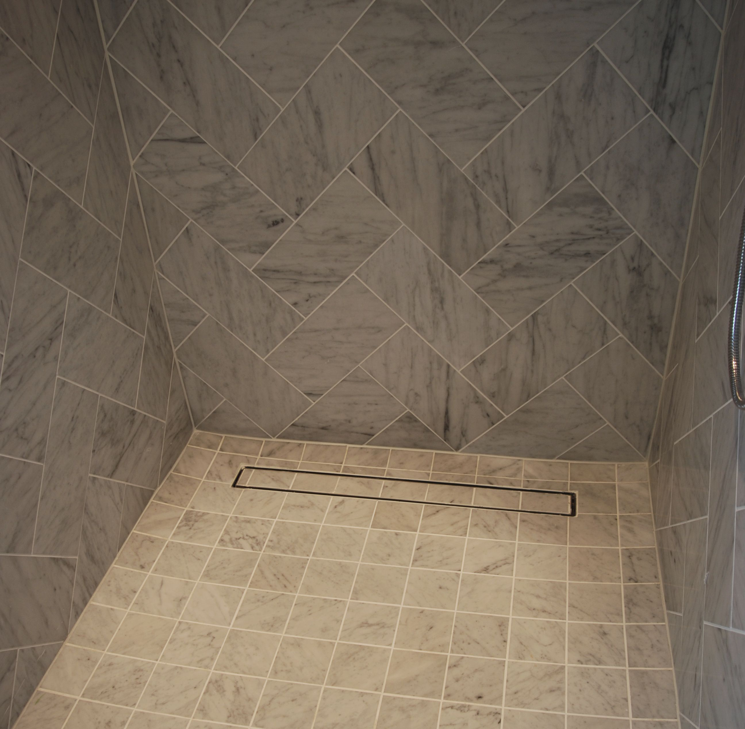Charmant Beautiful Tiled Custom Shower Featuring The Tile Tray Insert Drain From  LUXE Linear Drains.