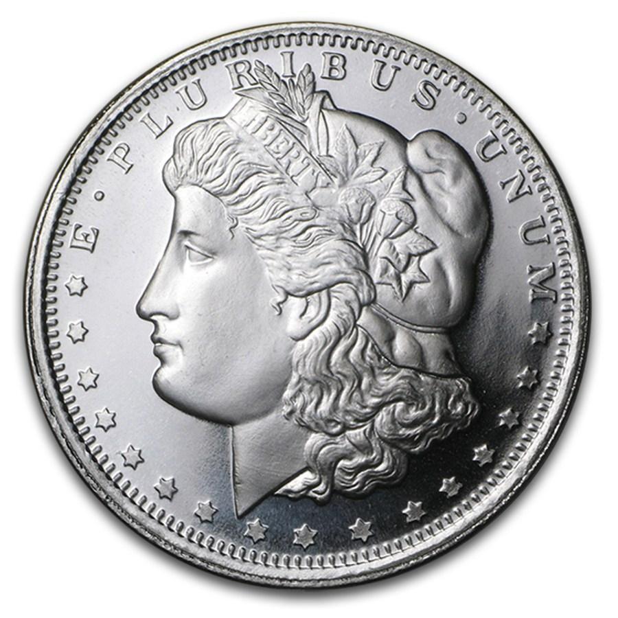 """Lot of 10 /""""Morgan/"""" Design NEW! Coin 1 gram .999 Fine silver bullion round"""