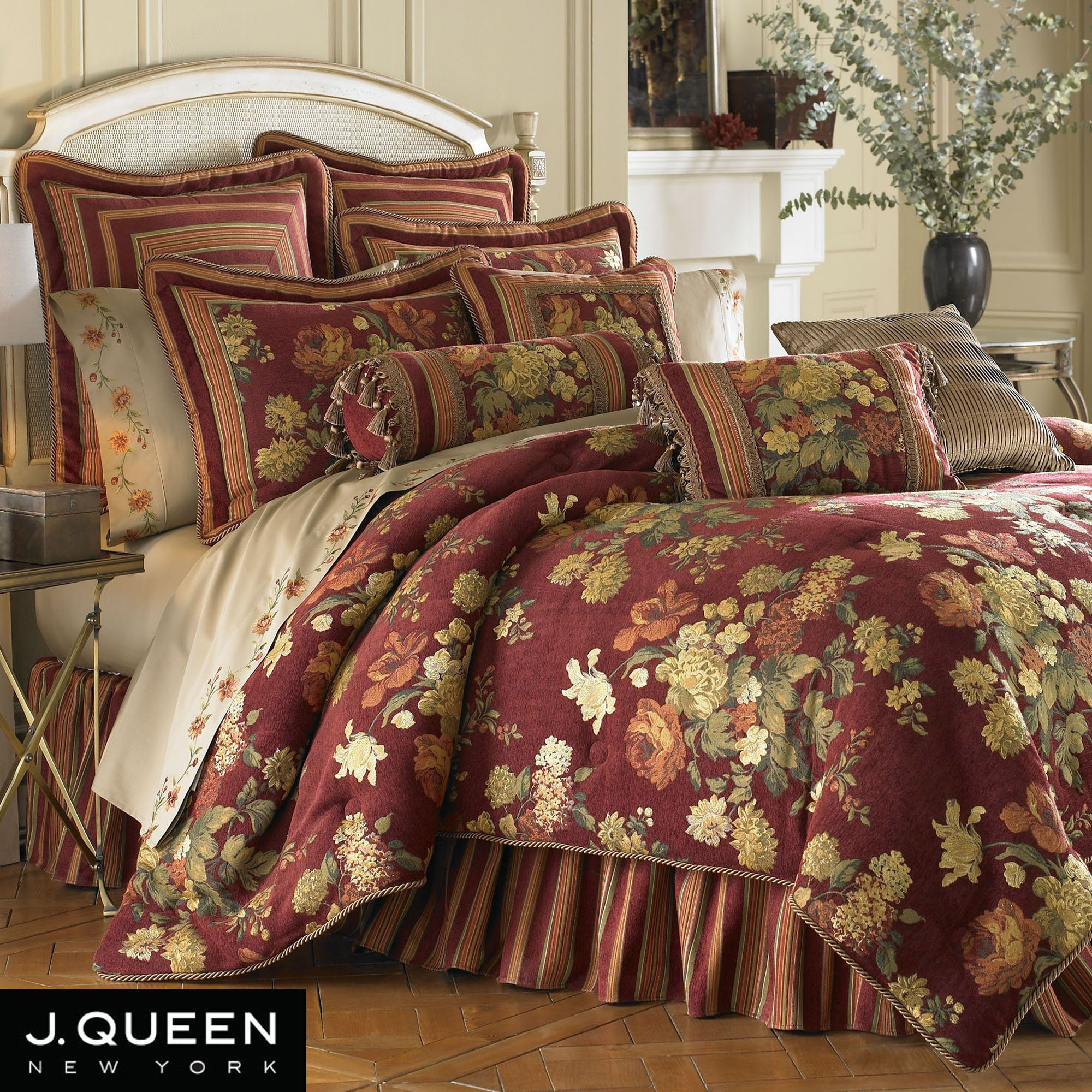Cotswold Floral Comforter Set Burgundy Comforter Sets Bed