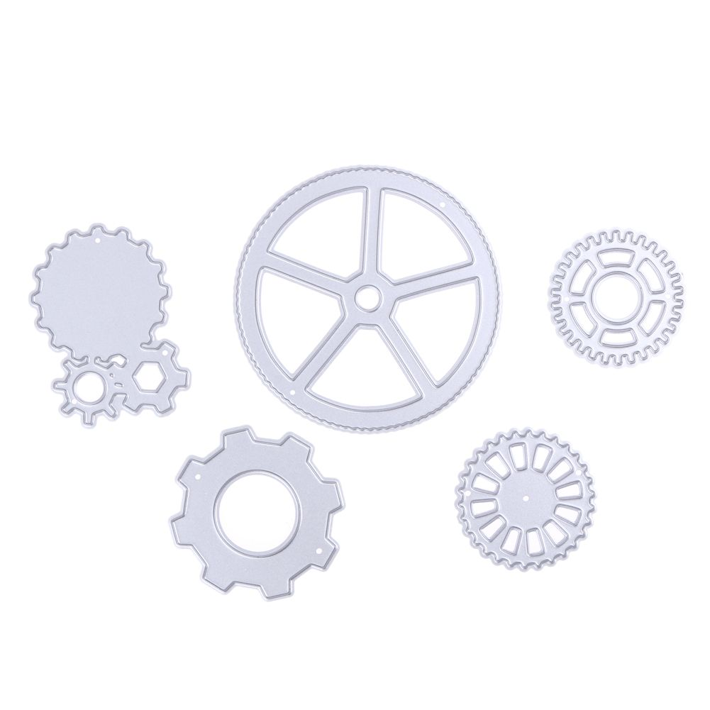 5pcsset metal round gear cutting dies diy stencil scrapbooking 5pcsset metal round gear cutting dies diy stencil scrapbooking paper card album craft for die cut business reheart Image collections