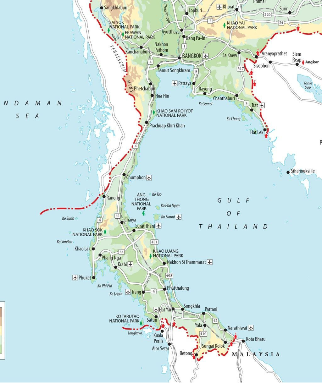 Map Of Thailand South Islands Top 20: Thailand's best islands to visit | Places | Thai islands