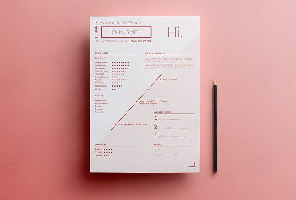 4 Resume Templates SALE! by Jakub Krzyszkowski on @creativemarket - business resumes templates