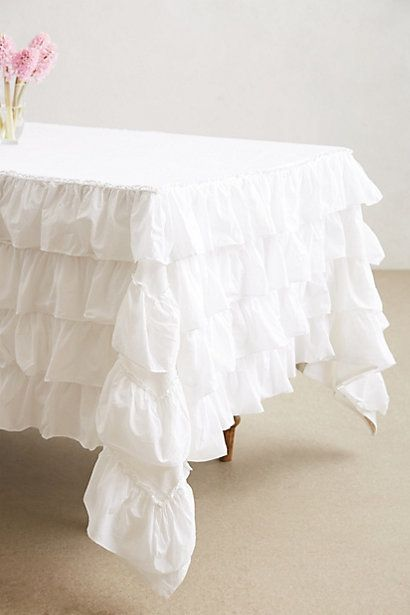 Imagine this petticoat tablecloth from Anthropology on a desk!