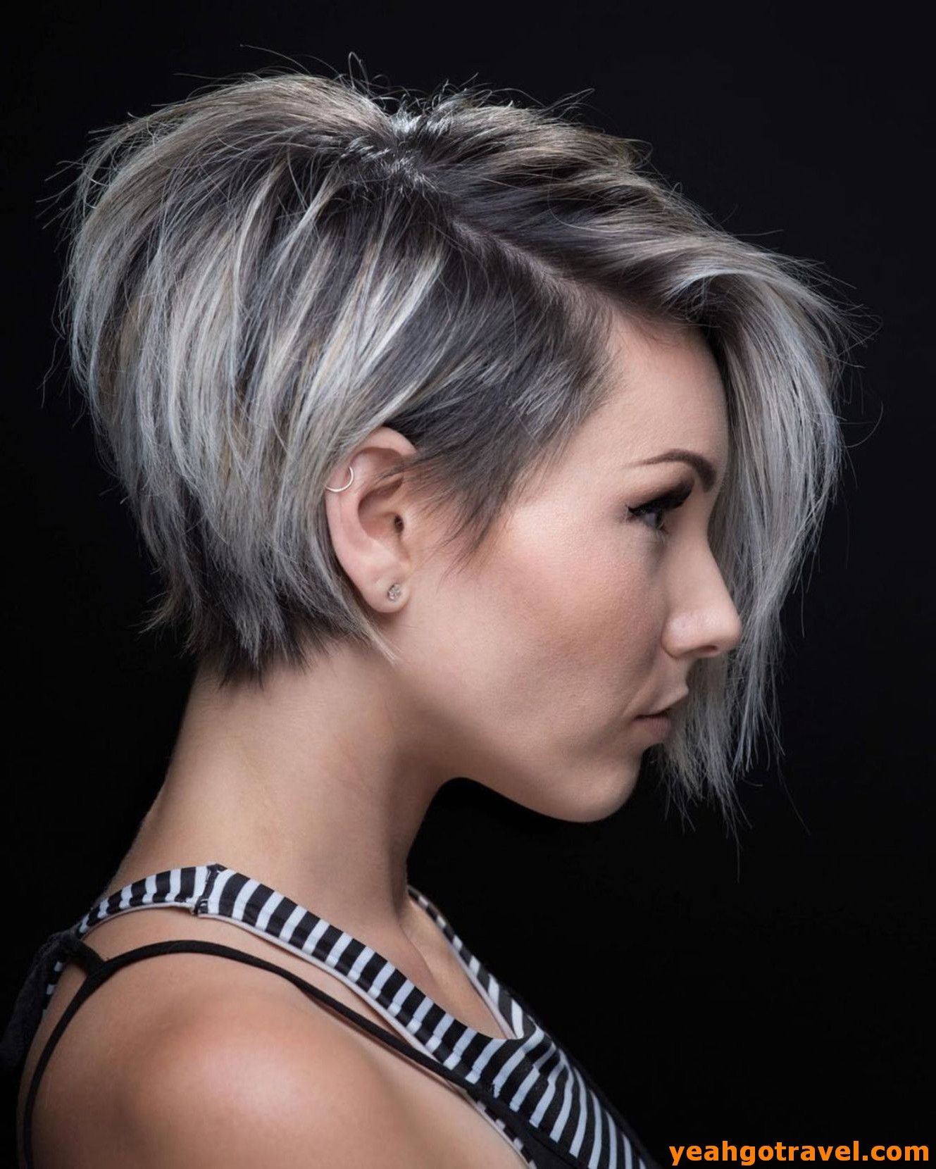 36 Most Coolest Short Grey Haircuts We Love Yeahgotravel Com Pixie Haircut For Thick Hair Thick Hair Styles Short Hairstyles For Thick Hair