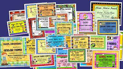 End-of-the-Year Award Certificates