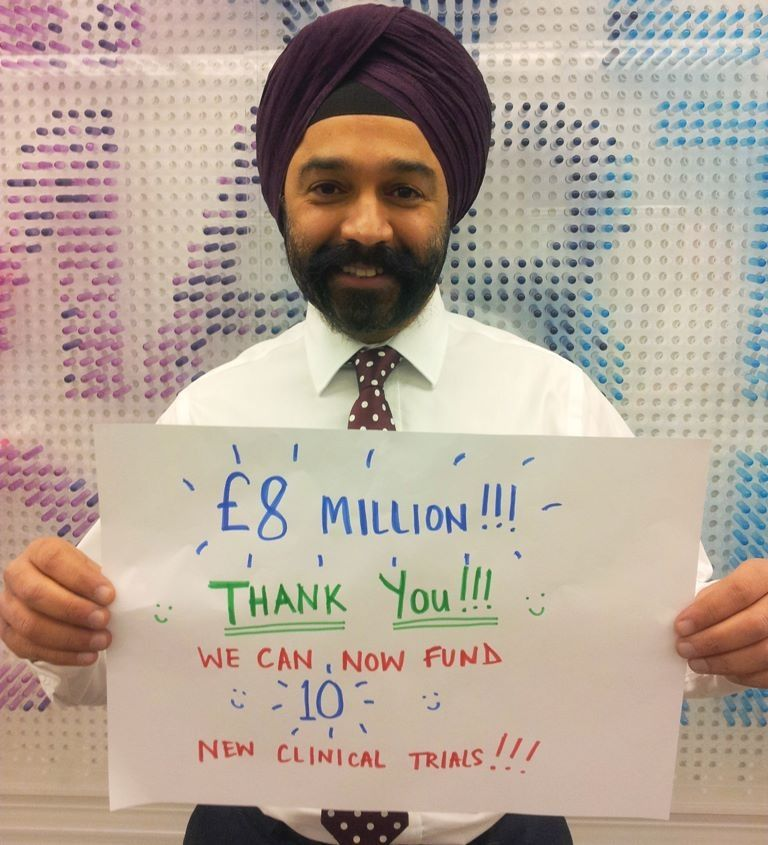 A very big thank you from Chief Executive Dr Harpal Kumar - the #nomakeupselfie campaign raises £8 million for Cancer Research UK in March 2014 !!