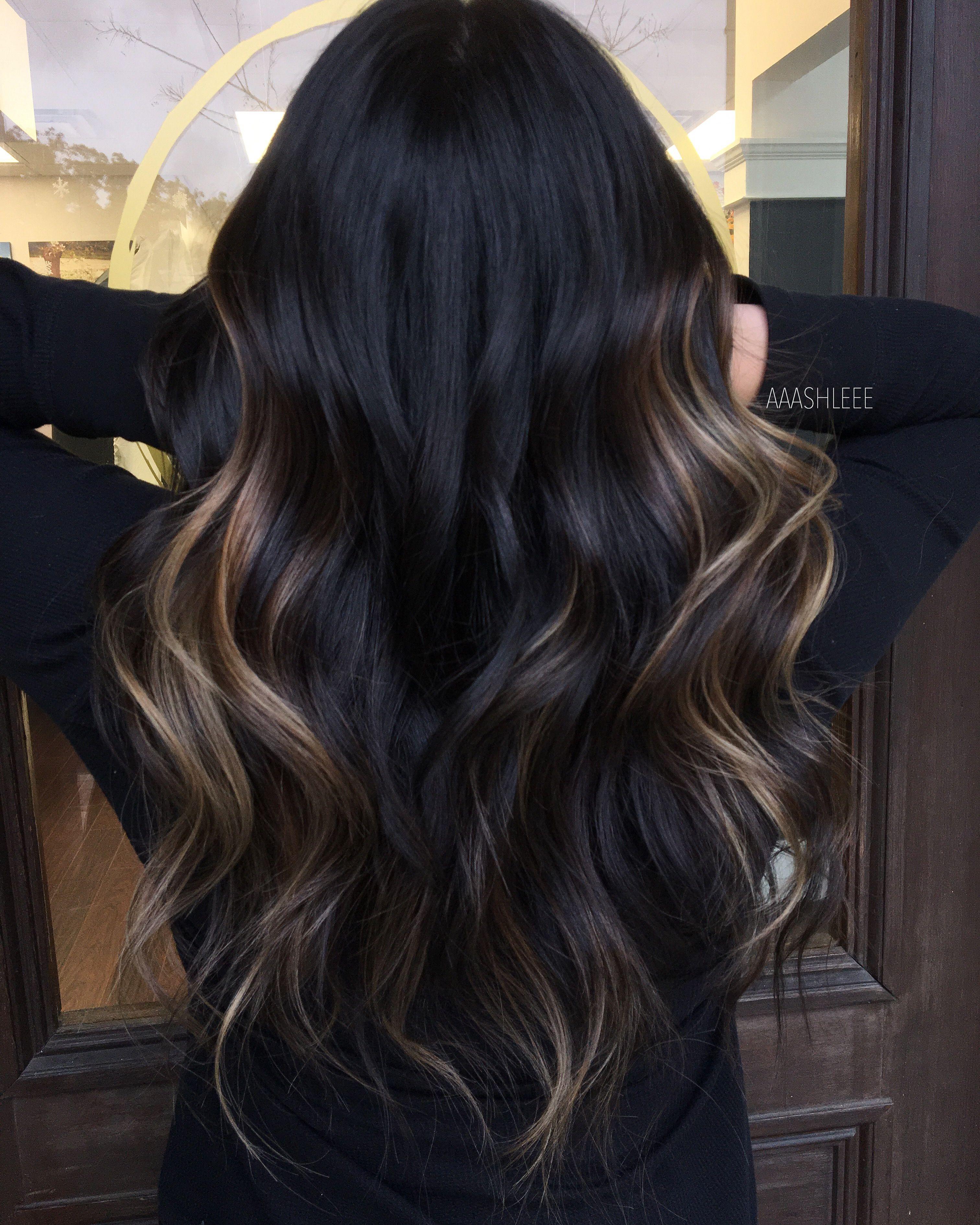 Ombre Balayage Brown Hair Brunette Brown Hair Balayage Subtle Long Hair Beach Waves Curls Winter Hair Dar Hair Color Unique Long Hair Color Black Hair Balayage
