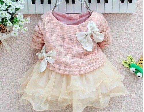 Newborn 0-3 Months Girls Pink Dress Ivory Dress Baby Newborn Girls ...