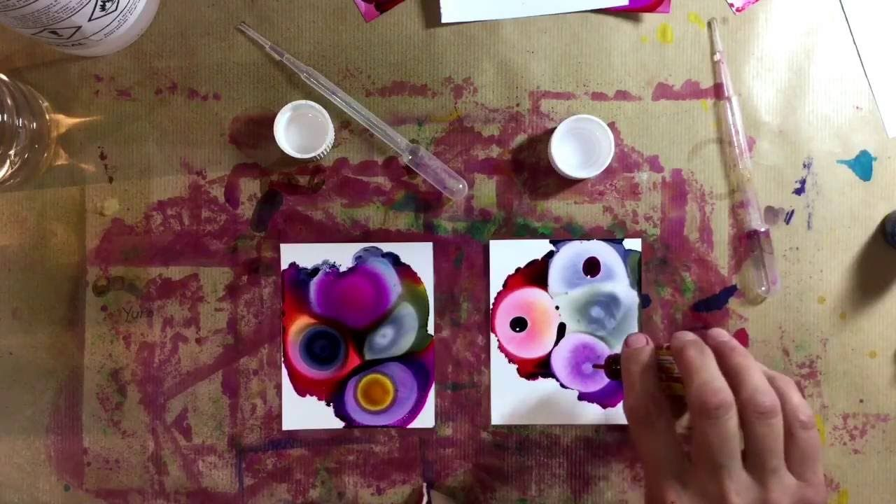 Alcohol inks comparing isopropyl alcohol ipa with