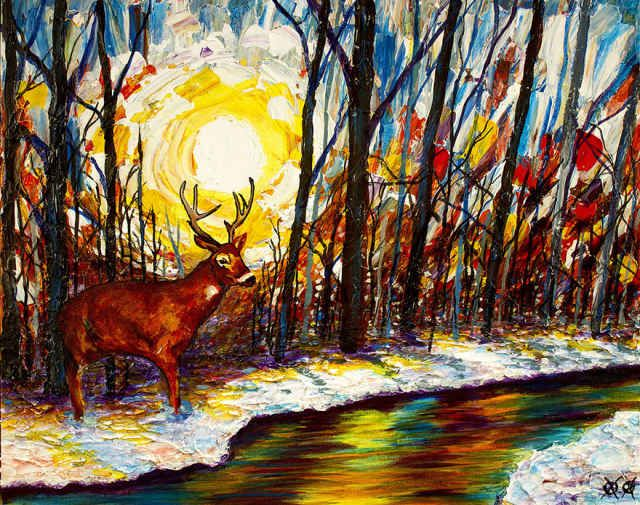 Blind Painter Uses Touch to Create Beautiful & Vibrant Paintings