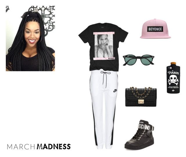 """yonce"" by shadow-dxlvi ❤ liked on Polyvore featuring NIKE, Moschino, Valfré and Ray-Ban"