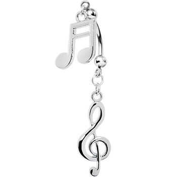 Handcrafted Music Passion Double Mount Belly Ring | Body Candy Body Jewelry #bodycandy