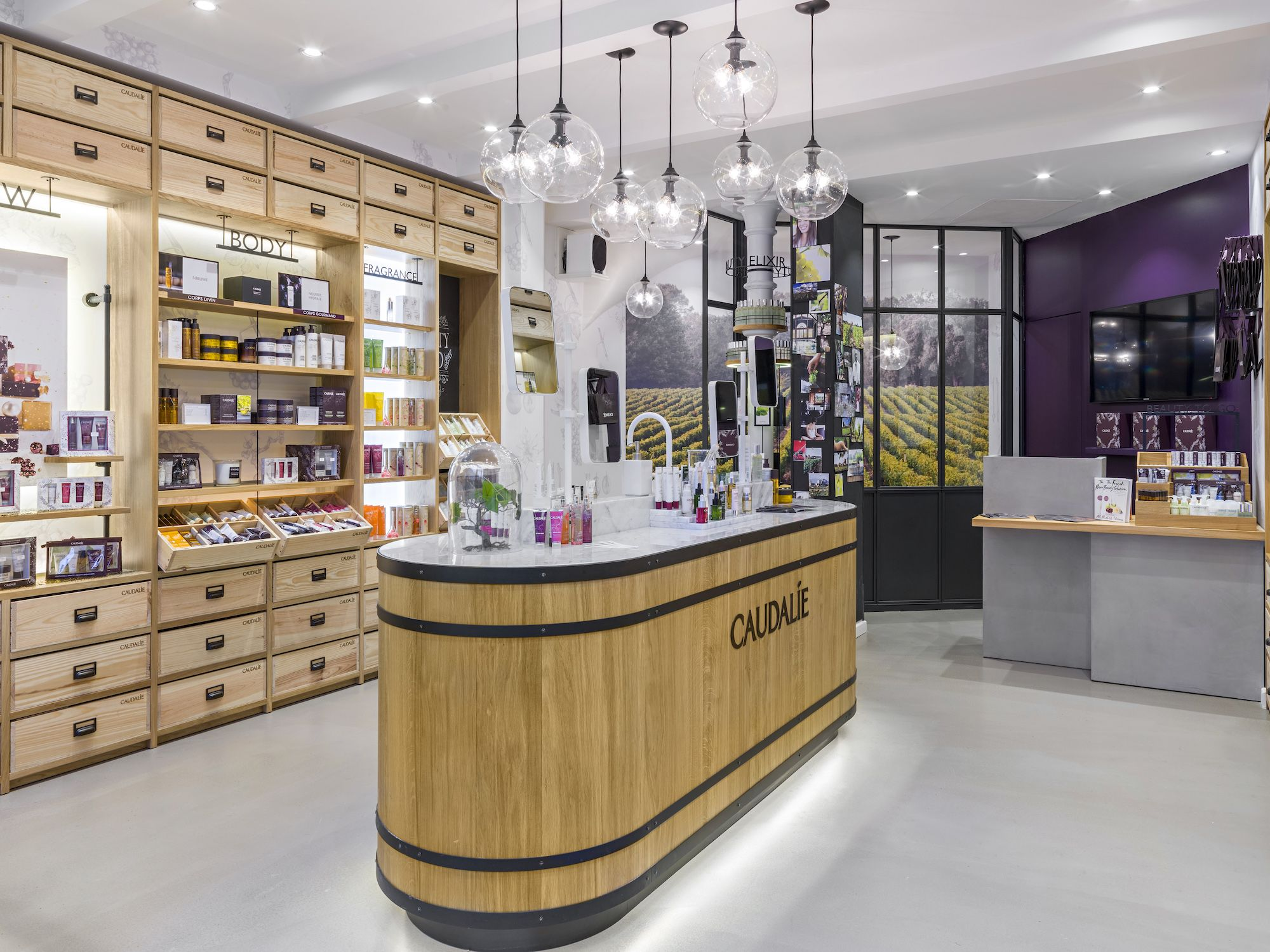 la boutique spa caudalie s 39 installe rive gauche paris la parisine boutique concept store. Black Bedroom Furniture Sets. Home Design Ideas