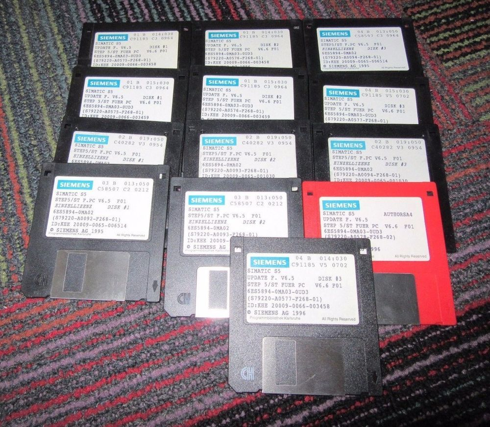 Lot Of 13 Siemens Simatic S5 Step 5 Ver 6 5 Pc Update