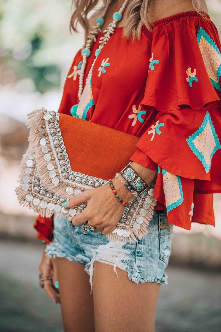 It's all about that must have red bohemian blouse! Here's where to get it.