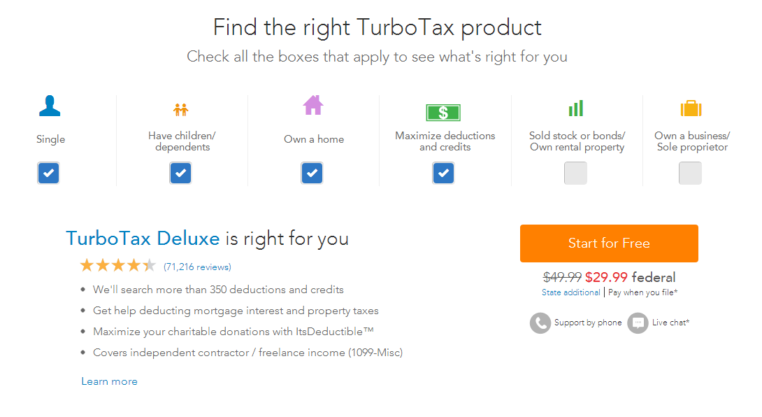 Turbotax Deluxe Home Owners Maximise Deductions Turbotax Tax Refund Deduction