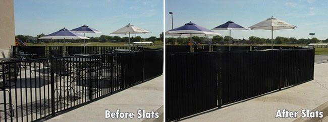 Aluminum Fence Privacy Slats Before And After Aluminum Fence