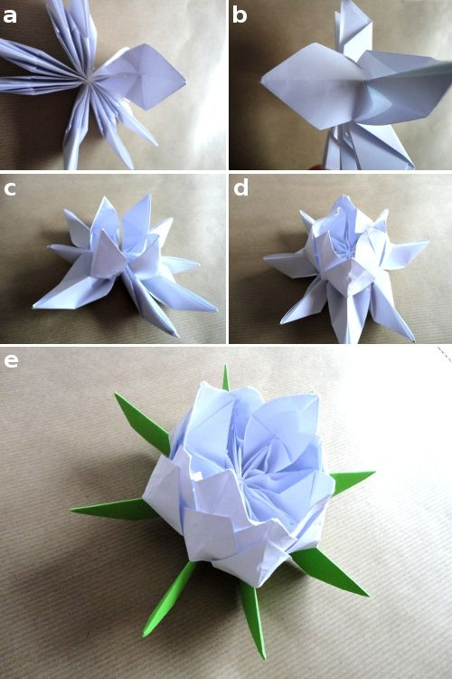 Crea Una Flor De Loto De Papel Loto De Papel Flor De Loto Origami Origami De Amor