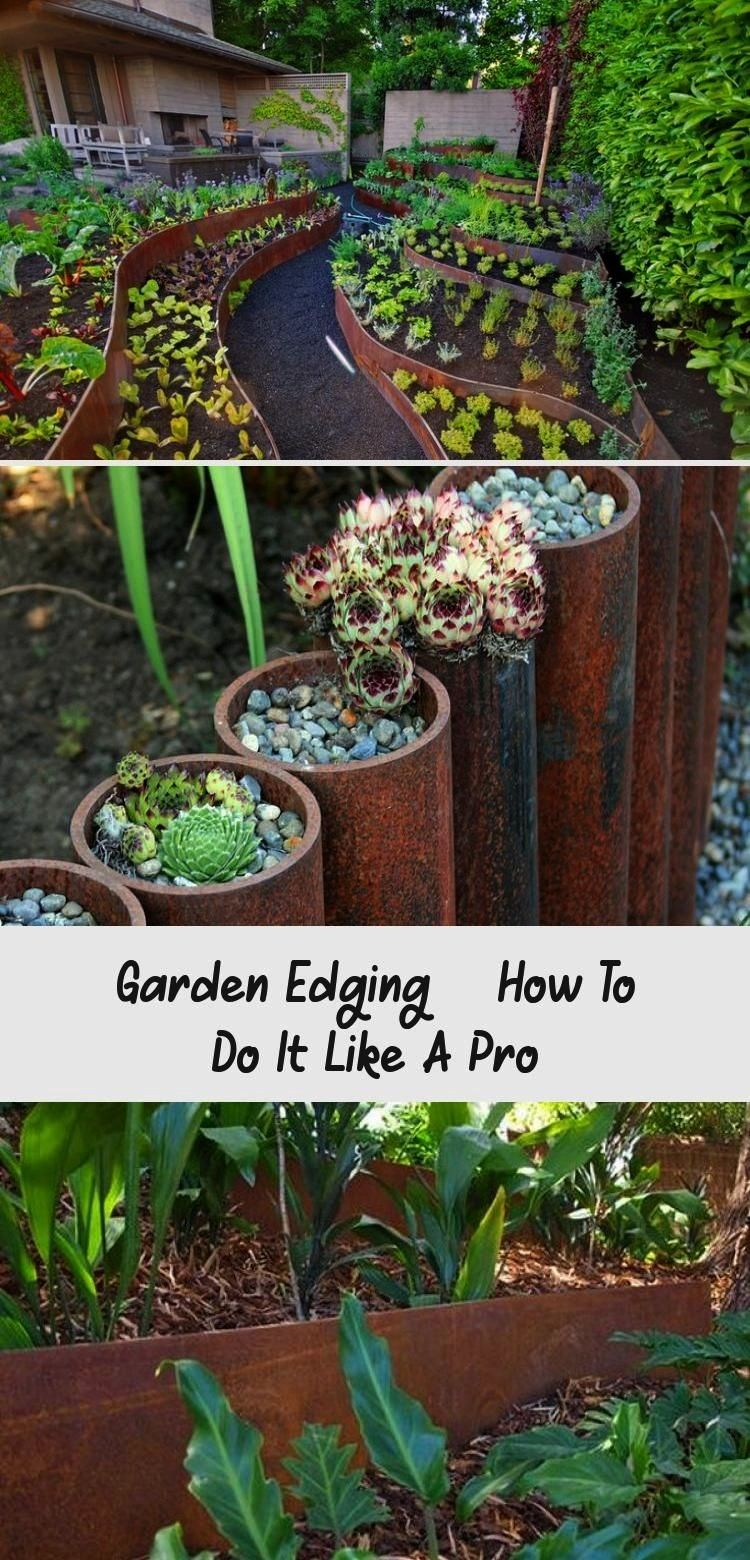 #dıydecor #garden #edging #decor #like #how #pro #diy #to #do #it #aGarden Edging – How To Do It Like A Pro - Decor Dıy#decorGarden Edging – How To Do It Like A Pro - Decor Dıy#decor  9 Ideas For Including Weathering Steel Planters In Your Garden // These planters made from curved sheets of weathered steel, add dimension and create extra space for more plants without being boxy.  Beautiful Garden Landscaping Design Ideas 20  Double Your Gardening Space with a Vine Ramp – Grow Your Vin...