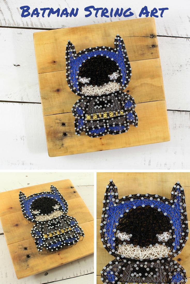 Batman Superhero String Art Wall Sign-DC Comics Wood Decor-Boy Room ...