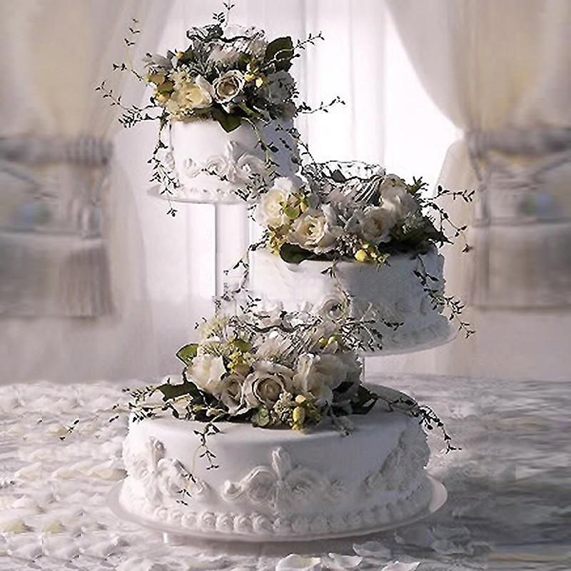 3 tier clear acrylic cupcake cake stand in 2020 wedding