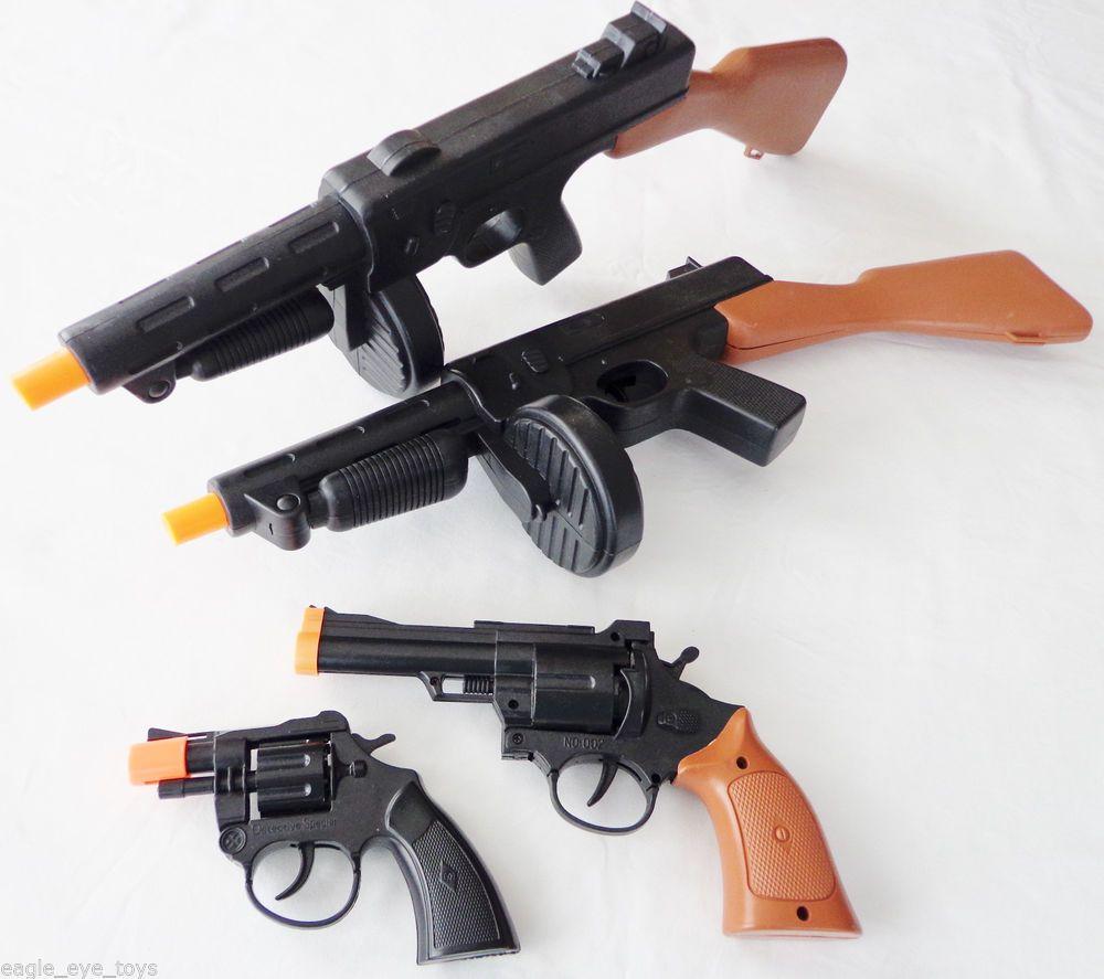 1920s Gangster Snub Nose .357 Revolver Toy Cap Guns 2x