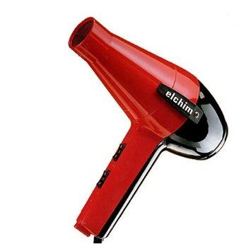 Elchim 2001 Hair Dryer Black Red Model Health And Beauty