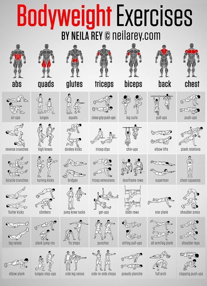 Body Weight Exercises fitness exercise health healthy living