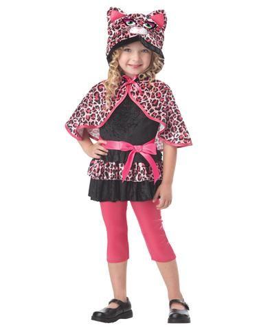 Cutesy Kitty Toddler Costume- Katelyn Pink Cheetah Pinterest - cute cat halloween costume ideas