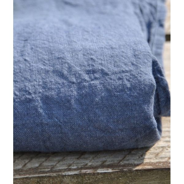 housse de couette en lin lav jeans linge particulier pour le repere des belettes. Black Bedroom Furniture Sets. Home Design Ideas