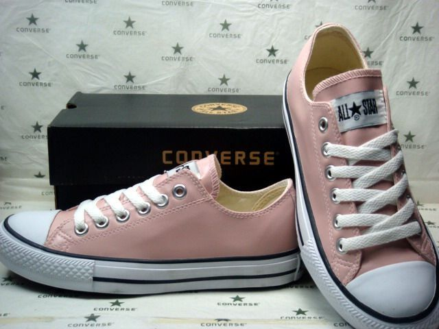 2a62b0548fa Converse de piel en color rosa palo. 100