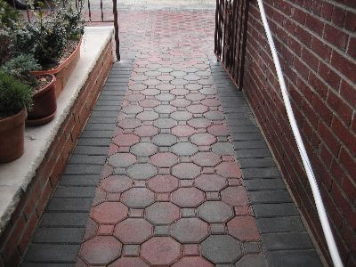 walkway Brick Path, Stone Walkway, Diy Patio, Patio Ideas, Paver Patterns, - Walkway Walkways & Paths Pinterest Walkway, Brick And Brick