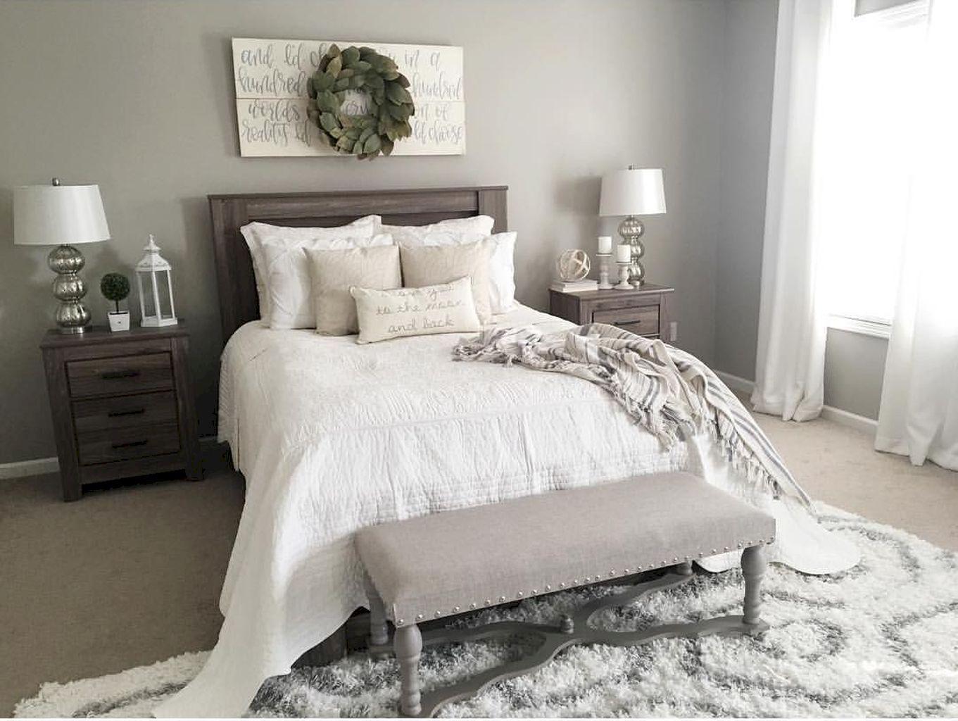 70 Cool Modern Farmhouse Bedroom Decor Ideas Bedroom Farmhouse Modern Farmhouse Style Master Bedroom Small Master Bedroom Master Bedroom Colors