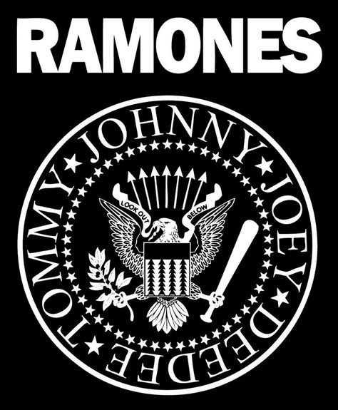 The Ramones Logo Like Most Logos The Design For The Ramones Was Created With A Purpose To Brand The Group As The Seni Musik Gambar Serigala Hitam Dan Putih