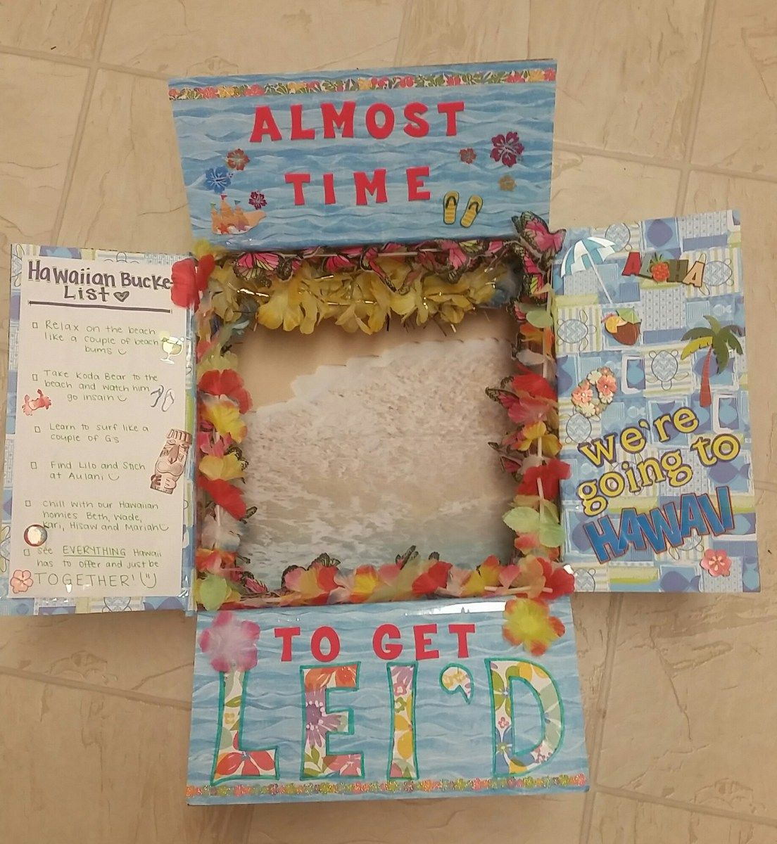 Hawaiian Themed Care Package