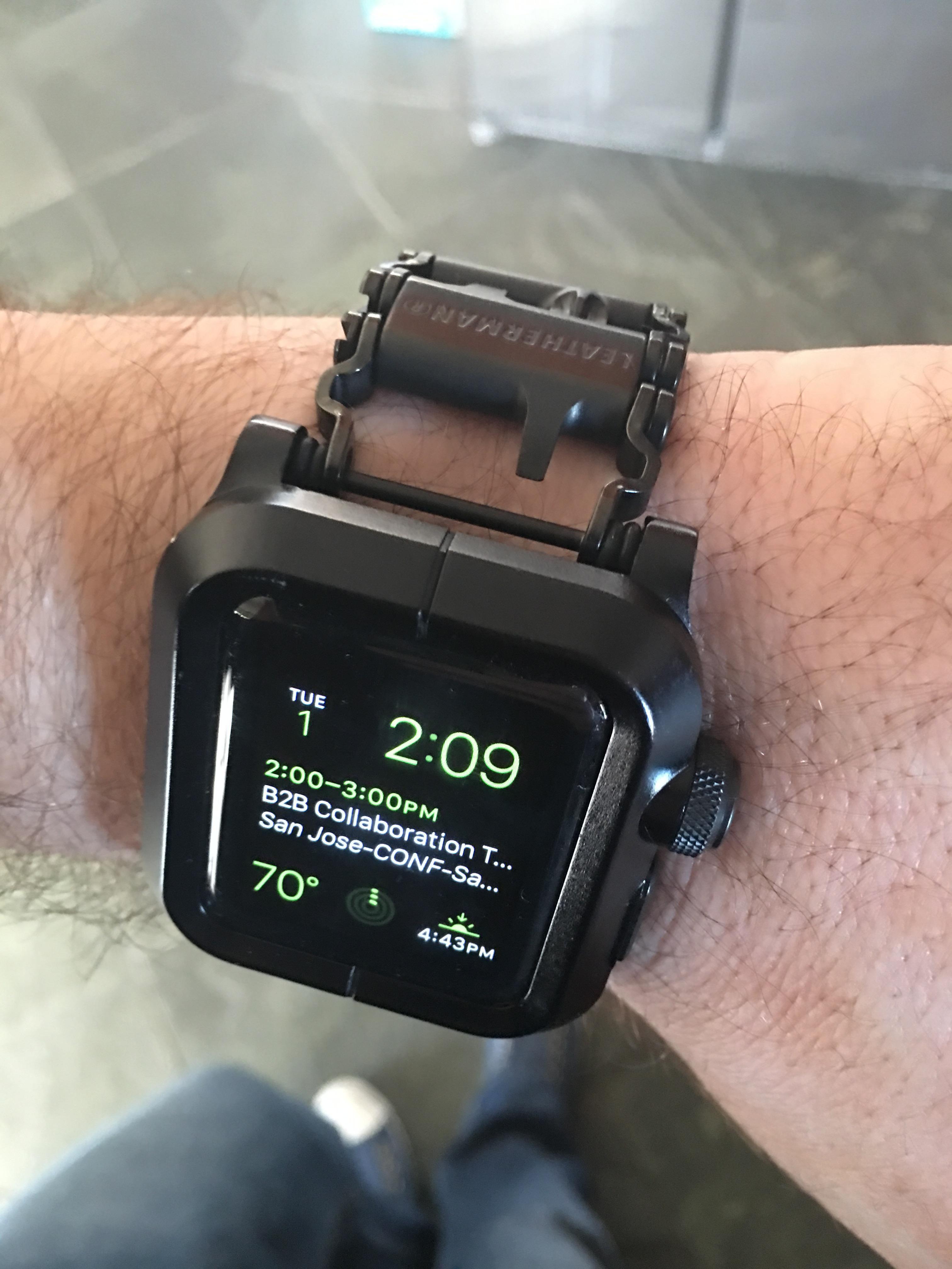 Apple Watch Epik Black Aluminum Case Leatherman Tread Duds Spigen Rugged Armor 38mm Tpu Softcase Original Amp Bands Mens