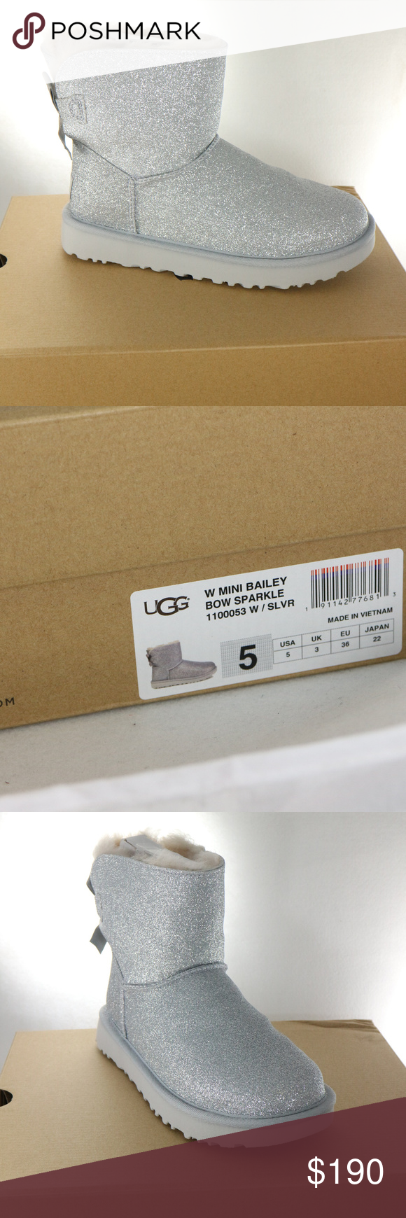 72c7f9b9a0c RARE UGG Womens Mini Bailey Bow Sparkle Boots All new, rare Mini ...