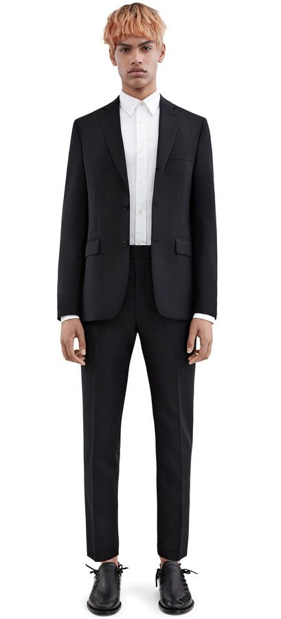 Acne Studios Drifter j pw mh black Fitted suit jacket | Kostym ...