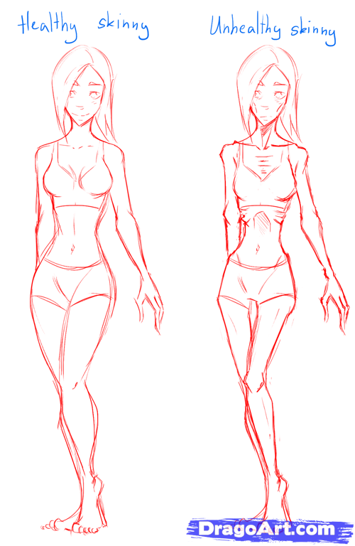Slim Body Drawing