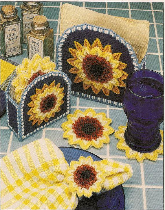 Sunflower Table Set Plastic Canvas Pattern Plastic