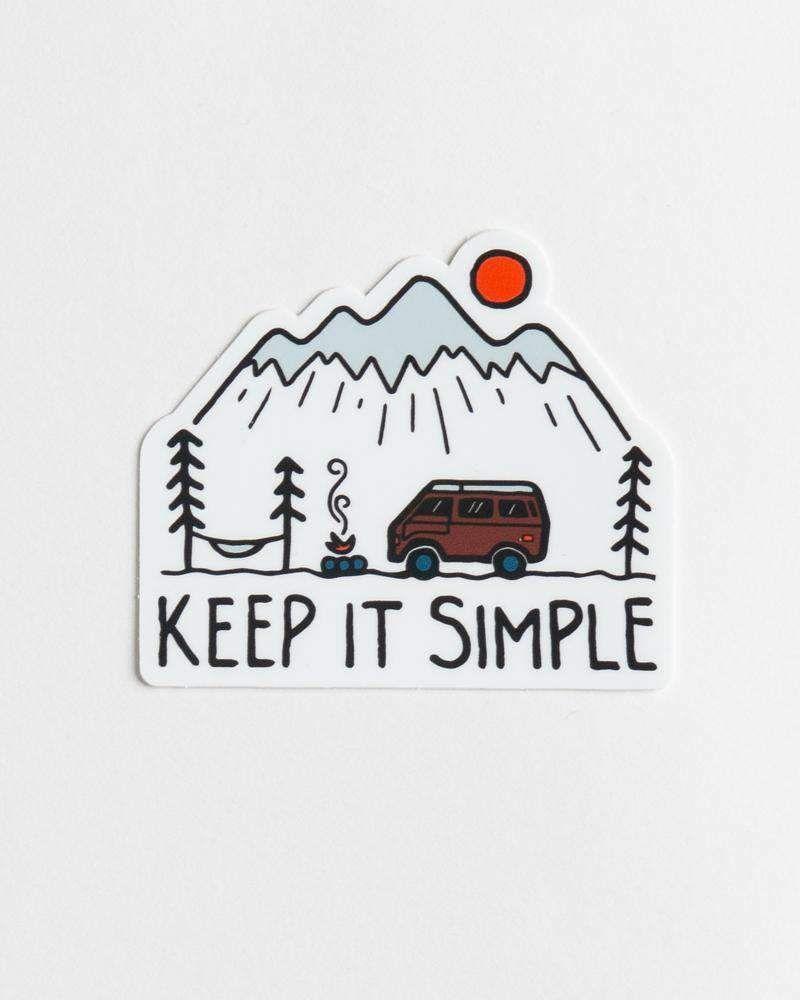 Keep It Simple Sticker Sticker Design Outdoor Stickers Screen Printing [ 1000 x 800 Pixel ]