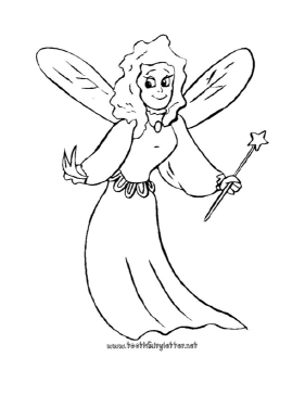 Printable Smiling Fairy Coloring Page Coloring Pages Fairy Coloring Fairy Coloring Pages